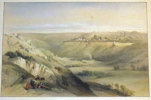 AFRIKA/Alte Stadtansichten - Jerusalem from the Mount of Olives