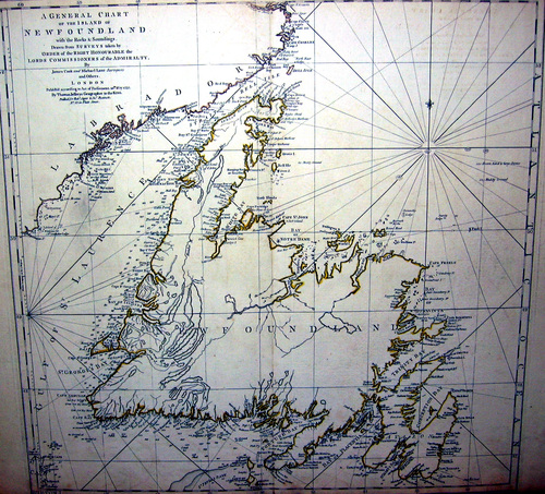 AMERIKA/Alte Landkarten - A General Charte of the Island of Newfoundland